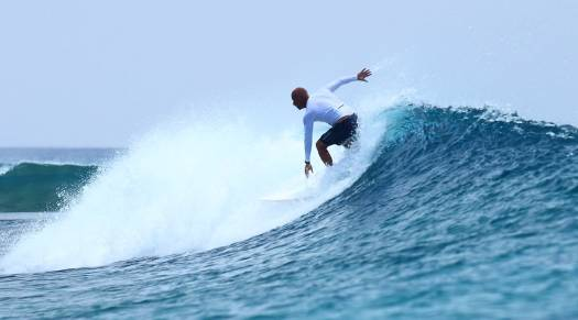Surfing at Gili Lankanfushi